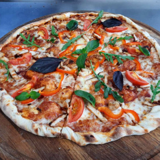Піца з курятиною та перцем 30 см