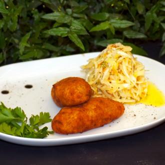 Зрази картопляні з капустою