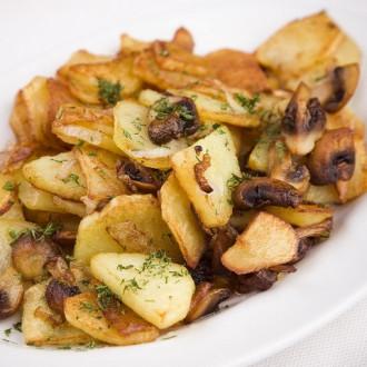 Картопля по-домашньому з грибами