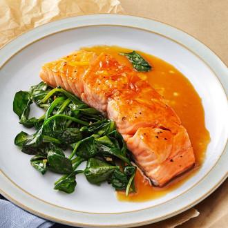 Філе форелі з лососем та шпинатом